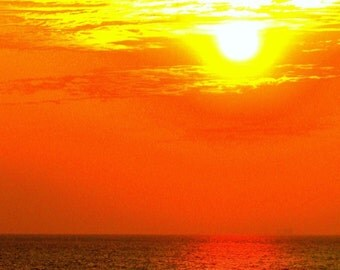 Sunset over Gulf of Mexico, Color Photography, Fine Art Photography