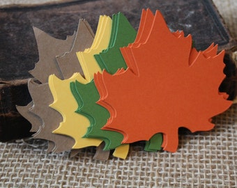 SMALL, Leaf Die Cut, Leaf Tag, Thanksgiving Table Decoration, Wedding Favor