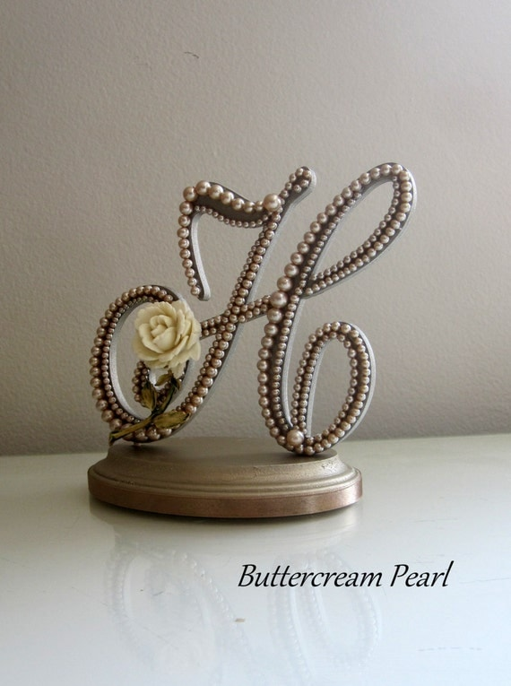 letter h wedding cake topper wedding cake topper monogram letter h vintage champagne 16834