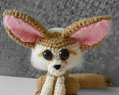 Ferdinand - little fennec fox crocheted amigurumi animal