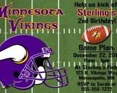 Minnesota Vikings Football Invitations or Thank you cards