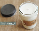 Island Driftwood, 8oz Soy Candle in a Reusable Glass Jar
