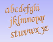 Wooden lower case letters, MDF, 6 inches, Monotype Corsiva