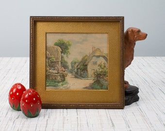 Framed Print on Cardboard Mountain Scene