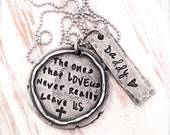 Hand Stamped Memorial Necklace | Personalized Necklace | Custom Jewelry | Anniversary Gifts for Wife | Christmas Gifts | Engraved Necklace