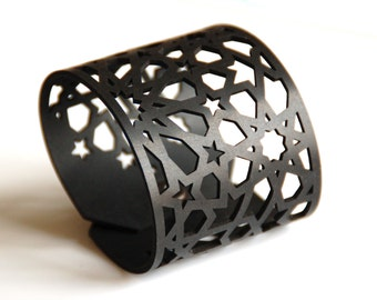 Cuff Bracelet with Geometric Pattern