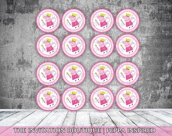 Peppa Pig Inspired Cupcake Toppers