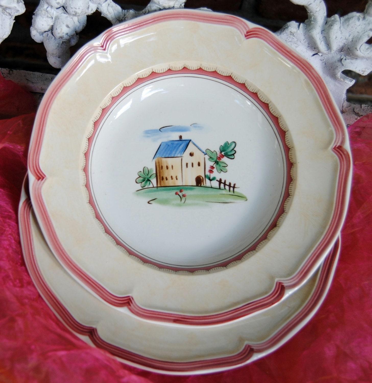 Vintage villeroy and boch dinner plate jardin d 39 alsace by ypsa for Villeroy and boch plates