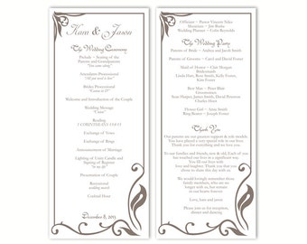 4 25 X 11 Wedding Program Template Best Custom Invitation