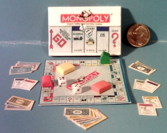 Barbie Sized Monopoly Board Game Set
