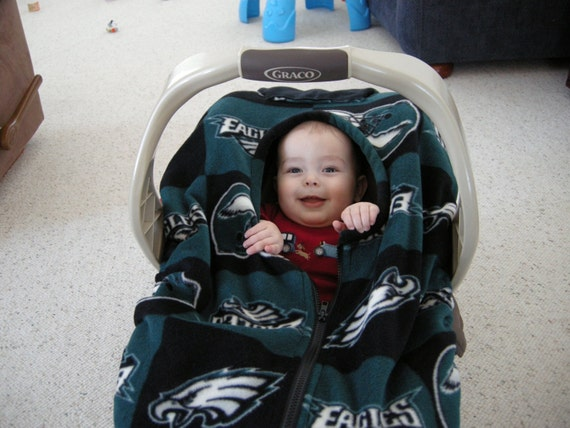 philadelphia eagles infant carseat cover by reelstitch on etsy. Black Bedroom Furniture Sets. Home Design Ideas