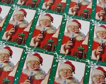Santa Claus Coca~Cola Playing Cards Collage Supplies