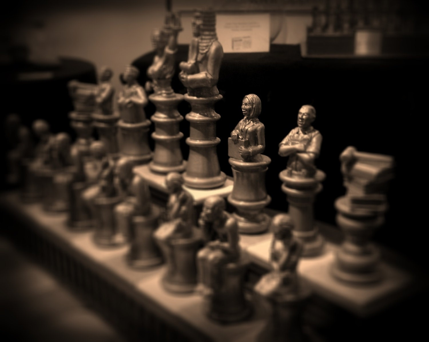 Order In The Court A Legal Themed Chess Set Hand Made In The