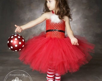 Christmas Tutu Dress..RedTutu Dress.. Red Tutu...