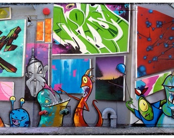 Queens, 5 Points, 5 Ptz, Graffiti, Photography, Five Points, Aliens, LIC, Long Island City, FREE SHIPPING!