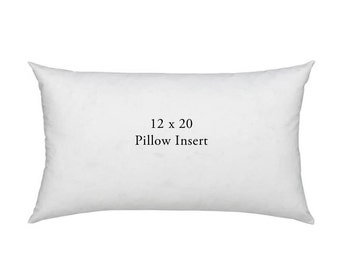 12x20 Down Feather Blend Lumbar Pillow Form - Pillow Insert - Premium Cushion 10/90 Blend