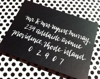 ADELAIDE : Custom Wedding Calligraphy Envelope Addressing