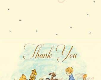Classic Pooh - Thank You Note, Folded - printable