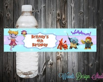 Custom Wallykazam Party Water Bottle Labels Wraps - Water Resistant
