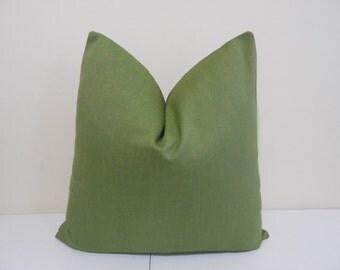 Lime green Outdoor pillow- Lime Green Sunbrella fabric - Lime Green indoor Outdoor Cushion- Sunbrella Pillow