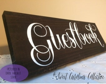 Rustic Wedding Sign, Rustic Wedding Guestbook Sign by Sweet Carolina Collective IG-6