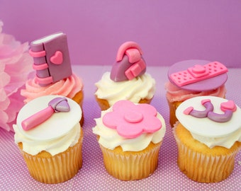 Fondant Doc McStuffins 12 qty cupcake toppers only for Mcstuffins party, doctor party, Disney Doc McStuffins, band aid, stethoscope
