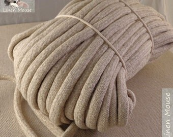 """WHOLESALE 30 meters Linen Cotton Rope 10 mm / 0,39"""" Natural Linen Cotton With Filling Natural Rope for Crafts Jewellery Decorations"""