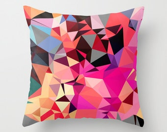 Pink Pillow Cover - Pink Throw Pillow Cover - Art Pillow Cover - Graphic Art Pillow Cover - Modern Pillow Cover - Art Pillow Cover