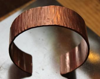 """Custom Copper Bark Bracelet, Diameter  2.6"""""""