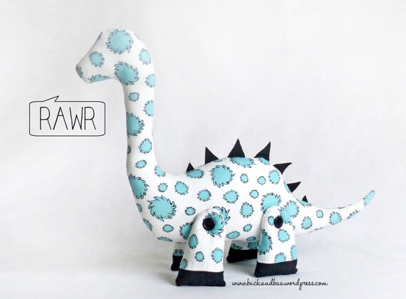 Dale The Diplodocus Plushie Sewing Pattern Pdf Soft Toy