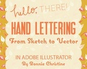 hand lettering from sketch to vector in adobe illustrator