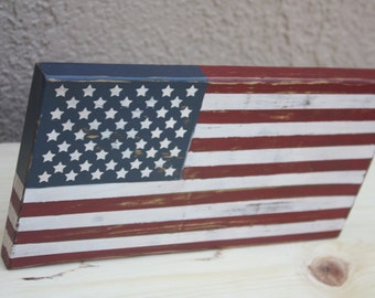 Distressed American Flag Wood Sign Photography Prop