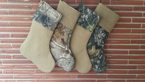 Mossy Oak or Realtree Camo and Burlap Christmas by MarleyOcean