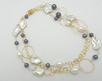 Yards of lucious pearls in gold