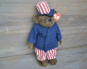Americana decor Uncle Sam bear July 4th decoration