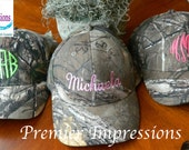 CAMO HAT, Realtree Camo Hat, Ladies Camo Hat, Monogram Hat, Monogram Camo Cap, Monogram Camo, Monogrammed with your name or Initials.
