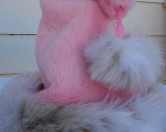 Limited Edition Pink Santa hat with Faux snow leoard fur trim!