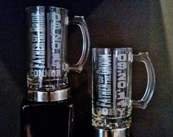 Father of the Groom Gift Set - Father Beer Mug, Father of Groom Gift, Father of the Bride, Father Gift Engraved Mugs, Groom Father Beer Mug