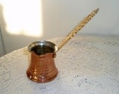 Copper Frothing Pitcher with gold metal handle  Decorative Solid copper pitcher with long handle