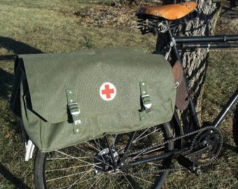 Vintage European Cotton Canvas Bike Pannier Messenger Bag for Everything Like ipad and iphone