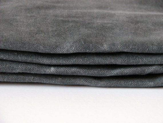 hand waxed cotton canvas fabric graphite grey 10oz 59 from on etsy studio