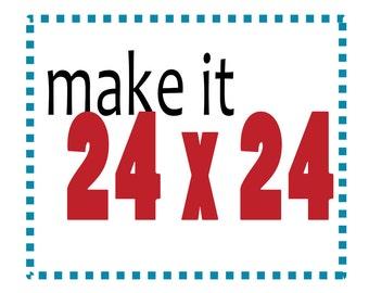 24x24 Print, Make any Salty Lyon City Print into a 24x24