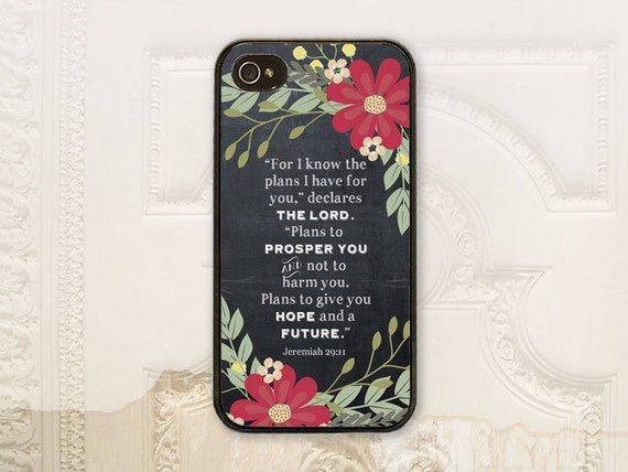 jeremiah 29 11 christian phone case iphone 4 4s 5 5s 5c 6 6. Black Bedroom Furniture Sets. Home Design Ideas