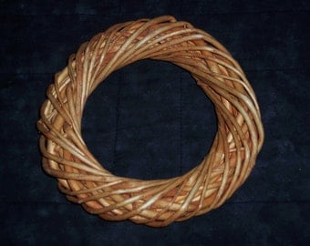 6.25 inch willow wreath,orange stained natural,bent wood,crafts,nest,primitive,rustic
