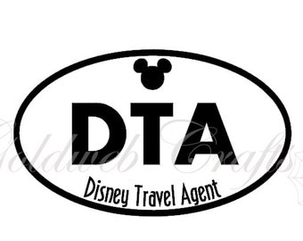 DTA - Disney Inspired Travel Agent Vinyl Car Decal