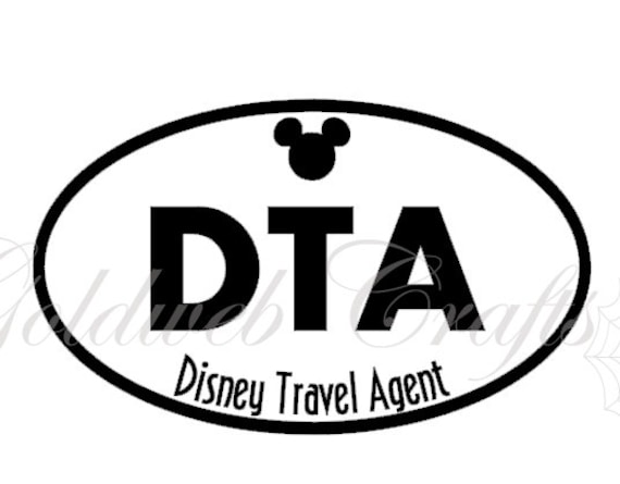 DTA Disney Inspired Travel Agent Vinyl Car Decal - Disney custom vinyl decals for car
