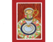 "Beautiful, Frameable, All-Occasion Card, A Work of Art- Demitasse #1 ""Morning Vision"""