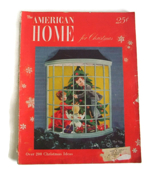 Vintage American Home Magazine December 1948 Christmas Issue Home