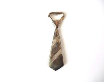 Metal Necktie Bottle Opener - Open Capsules - Vintage
