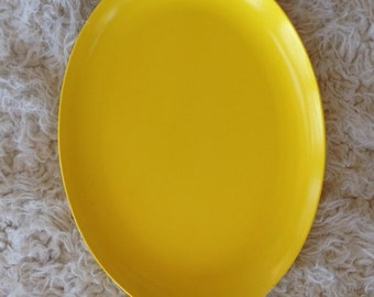 Yellow melmac platter Danish modern